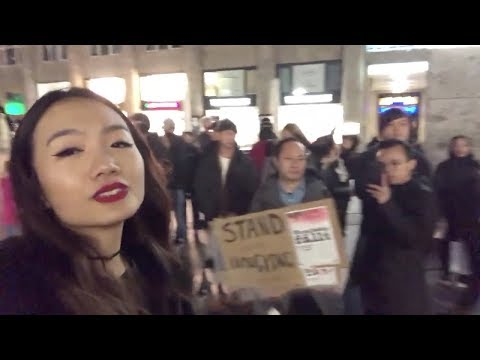 Woman From China's Mainland Confronts Hong Kong Protesters In Germany