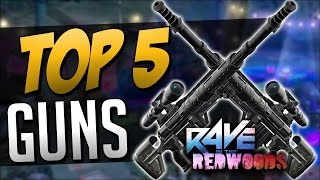 TOP 5 GUNS in Rave in the Redwoods (COD: Infinite Warfare Zombies)