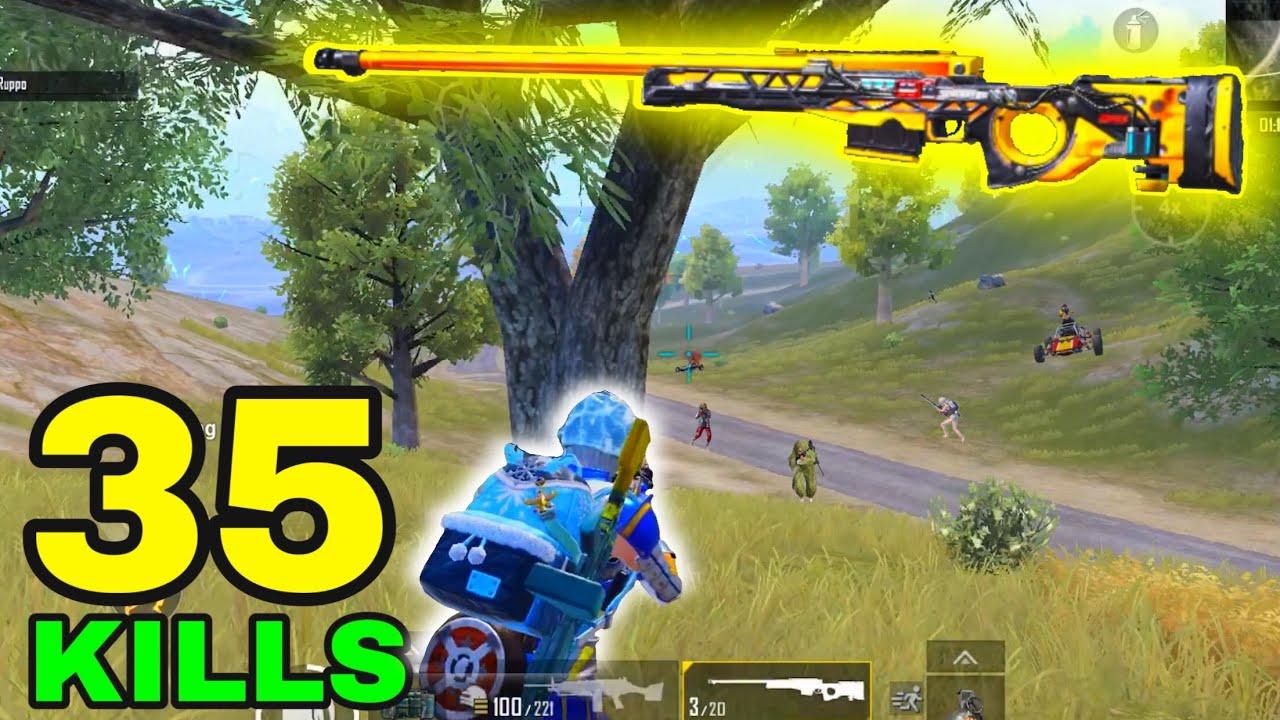 NEW BEST AWM GAMEPLAY!!! | 35 KILLS SOLO vs SQUADS | PUBG MOBILE