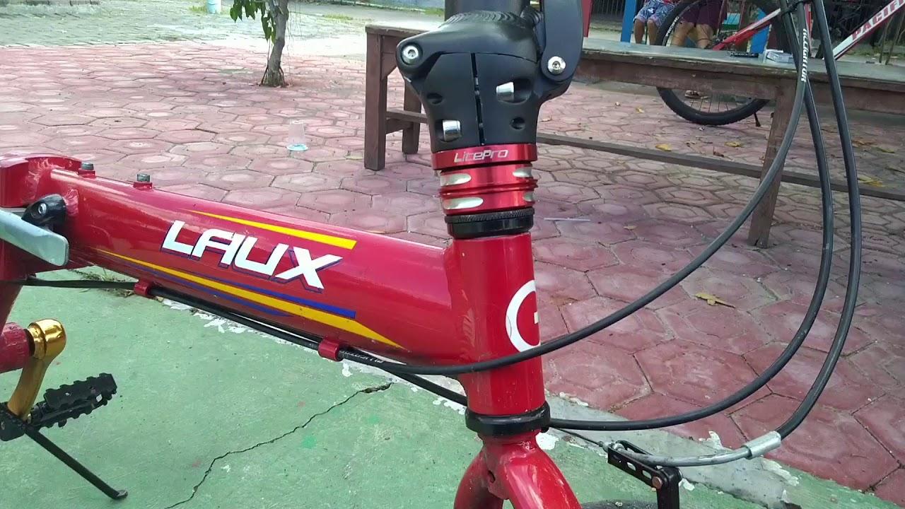 Modif Sepeda Lipat Laux Florentina 16 Inch Jadi Keren Youtube