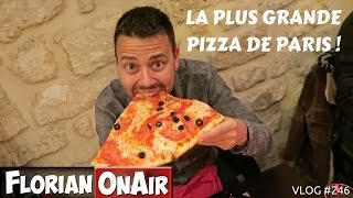 La plus grande PIZZA de Paris - VLOG #246
