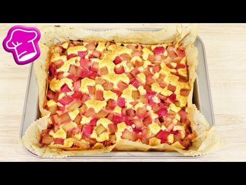 Einfacher Rhabarber Kuchen   Saftiger Blechkuchen Für Sommer & Frühling