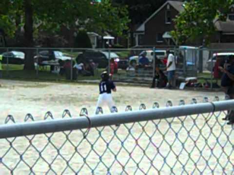 Ralph Rayner base hit RBI single