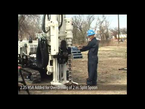Geoprobe® 7822DT Geotechnical Auto Drop Hammer Collecting Split Spoon Samples