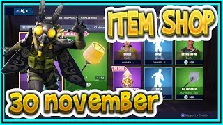 Fortnite ITEM SHOP November 30th all new SKINS and EMOTES-Playr NINE-English Fortnite EN