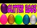 Glitter Eggs Surprise Eggs Disney Tsum Tsum Peppa Pig Disney Princess Huevos de Purpurina