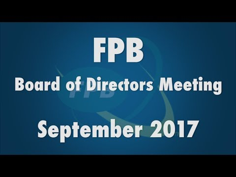 FPB Board of Directors Meeting September 2017