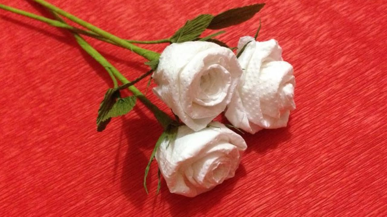 How to make rose tissue paper flowers flower making of tissue how to make rose tissue paper flowers flower making of tissue paper paper flower tutorial youtube mightylinksfo