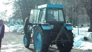 Трактор ЛТЗ - 60АВ. Обучение вождению. Город Уварово.