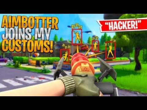 FORTNITE HACKER WITH AIMBOT JOINED MY CUSTOM SCRIMS AND KILLED THE WHOLE LOBBY! (INSANE)