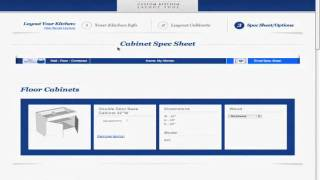 Kitchen Cabinet List- Printing Your List In The Free Kitchen Design Tool