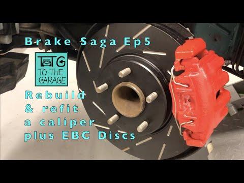 Install upgraded EBC Brakes  to Jaguar Xk8. Brake saga Episode 5