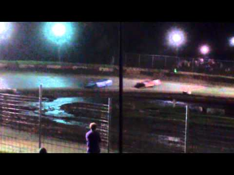 Todd Bennett feature win July 18 2015 Peoria speedway