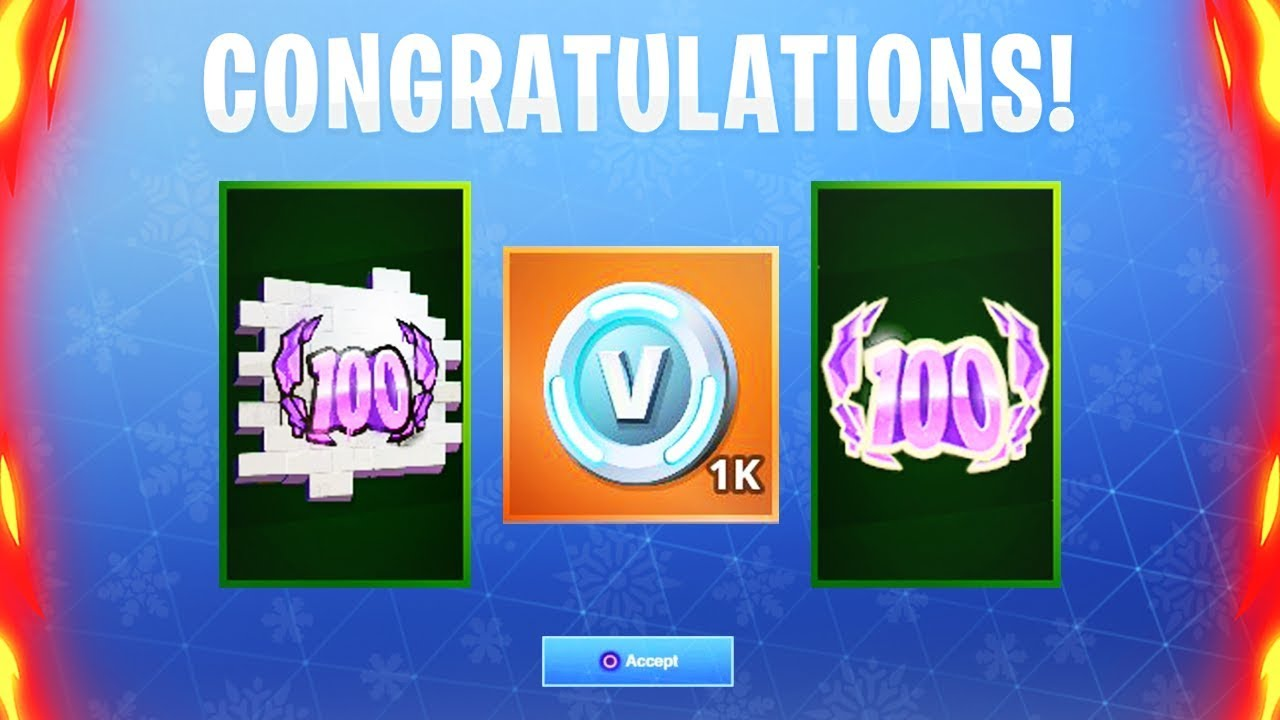 New Fortnite Level 100 Rewards Unlocked New Fortnite Battle Royale