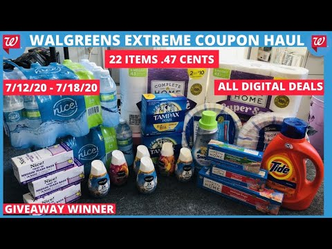 WALGREENS ALL DIGITAL EXTREME COUPON HAUL DEALS STARTING 7/12~22 ITEMS ONLY .47 CENTS 💃🏽❤️