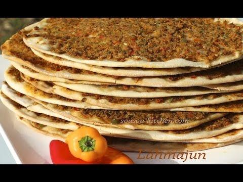 recette-de-lahmacun-pizza-turqueوصفات-رمضانية-/turkish-pizza-طريقة-عمل-لحم-بعجين