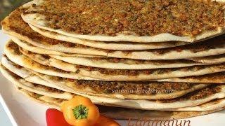 Recette De Lahmacun-pizza Turque/turkish Pizza-طريقة عمل لحم بعجين
