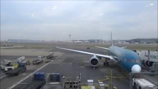 Heathrow Terminal 4 Vietnam Airlines Air India British Airways Boeing 747 plane watching