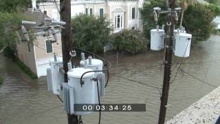 Galveston Texas flooded during Hurricane Ike