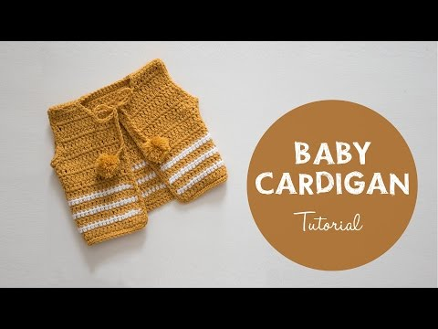 How To Make A Cute And Easy Baby Cardigan | Croby Patterns