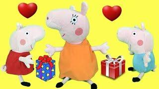 Peppa pig en español:regalos sorpresa de pepa y george para mama pig.Fiesta dia de la madre 2018