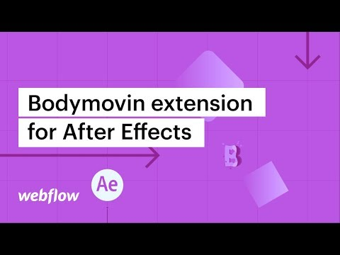 Bodymovin extension for After Effects - After Effects & Lottie in Webflow