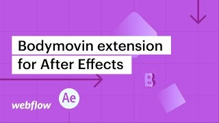 Gambar cover Bodymovin extension for After Effects — After Effects & Lottie in Webflow