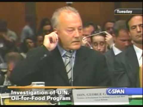 George Galloway - 2005 Senate Hearing Part 1