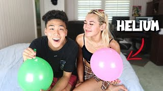 TRY NOT TO LAUGH With My CRUSH (Helium Edition)