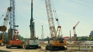 PKP Łódź Fabryczna - Budowa wielkiego stropu - Zbrojenie i betonowanie