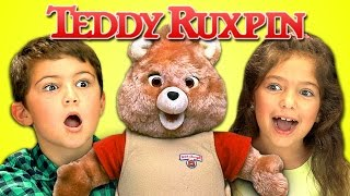 KIDS REACT TO 80's TOYS - TEDDY RUXPIN