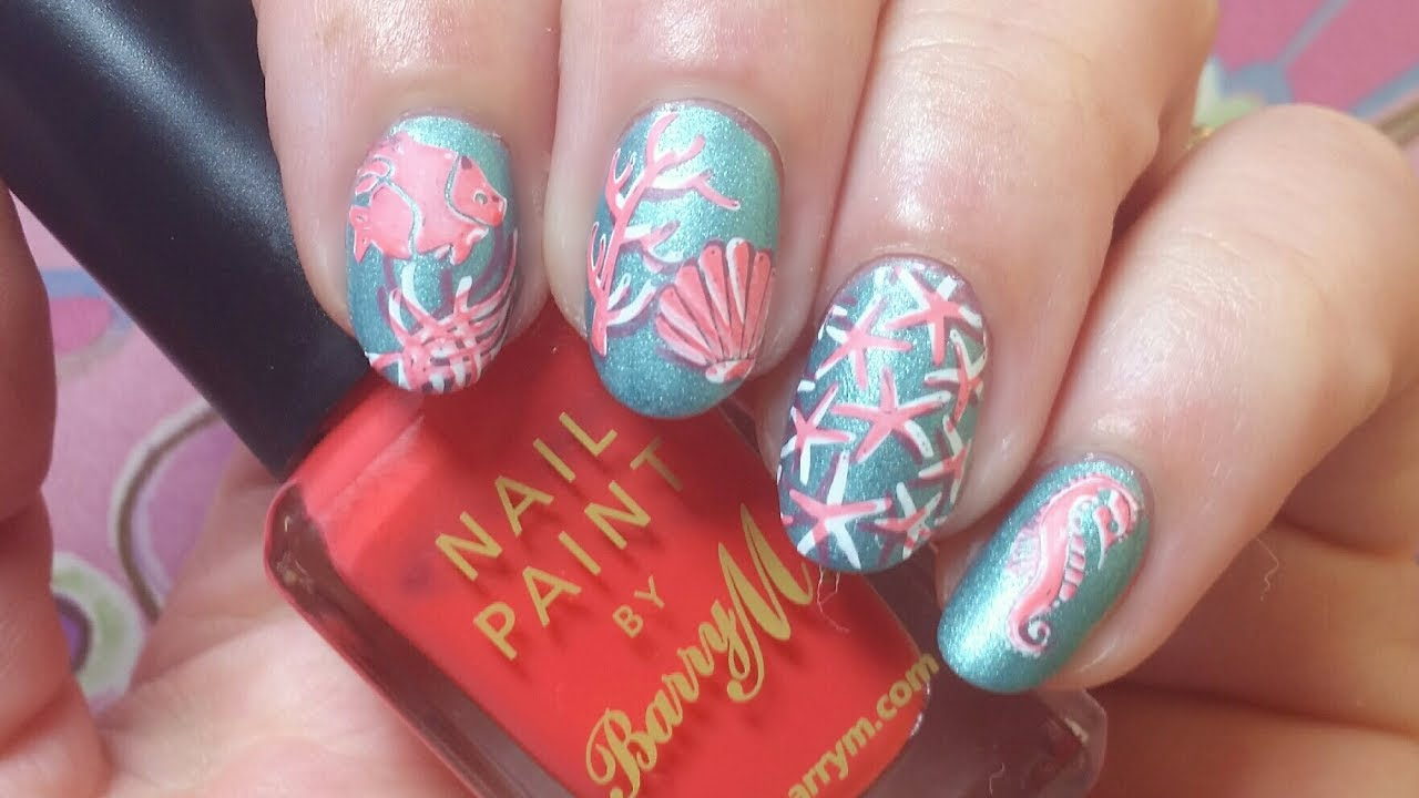 Is It Coral Or Coral ? Nail Art Double Stamping Tutorial - Is It Coral Or Coral ? Nail Art Double Stamping Tutorial - YouTube