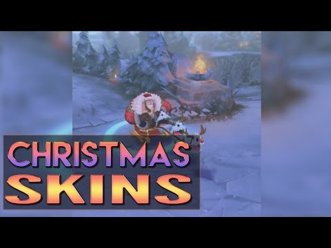 CHRISTMAS SKINS PREVIEW - Snow Day Graves Santa Braum Winter Wonder Karma - League of Legends