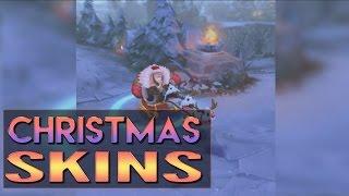 CHRISTMAS SKINS PREVIEW - Snow Day Graves Santa Braum Winter Wonder Karma - League of Legends