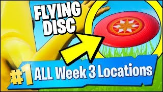 THROW THE FLYING DISC TOY AND CATCH IT BEFORE IT LANDS (Fortnite Season 9 Week 3 Challenges)