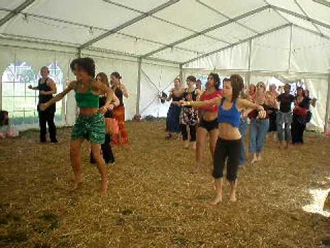 African Dance Workshop with Denise Rowe Barefoot Festival 2009.AVI