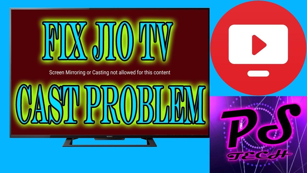 Jio Tv Screen Mirroring or Casting Problem Fix!! 100% Working Trick