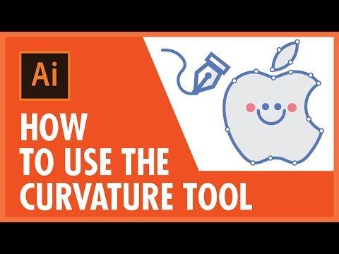 Curvature Tool (2019) Tutorial in Adobe Illustrator - Graphic Bible thumbnail