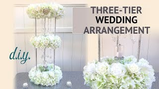 DIY Three Tier Wedding Arrangement