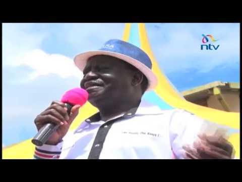 Raila slams Jubilee government over handling of IDPs in Kisii