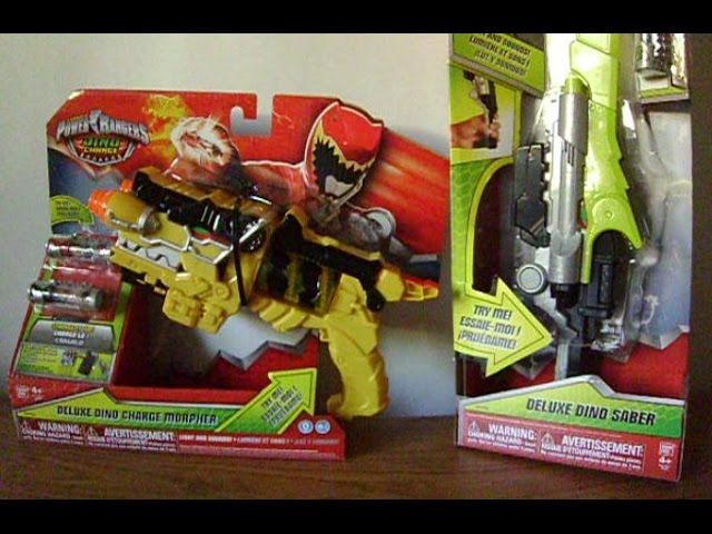 2 Chargeurs et Batteries Power Rangers-Dino Charge-Deluxe Vert sabre épée
