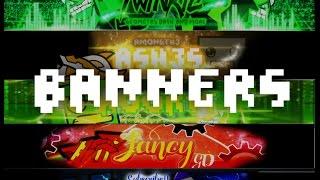 GEOMETRY DASH BANNERS SPEED ARTS!!! -- Golden Twinkie, Amongth3Ash3s, Kook1e, Fancy, Iuppiter