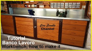 BANCO LAVORO , TUTORIAL di come costruirlo-WORKBENCH, TUTORIAL on how to make it