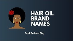 Best Hair Oil Brand Names Idea