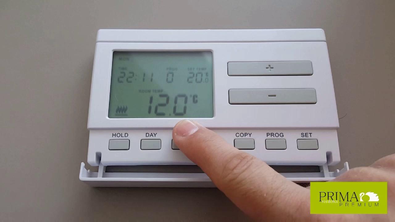 Manual de utilizare termostat de cameră computherm q3 rf model nou.