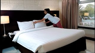 Actual Demo of Bed Making in Housekeeping 2018 (Collaborating with Shengmea)