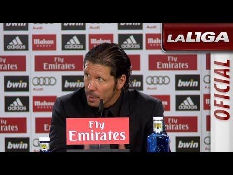 Rueda de Prensa de Simeone tras el Real Madrid (0-1) Atlético de Madrid - HD
