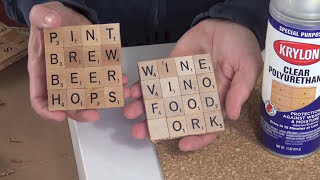 How to Make DIY Scrabble Coasters