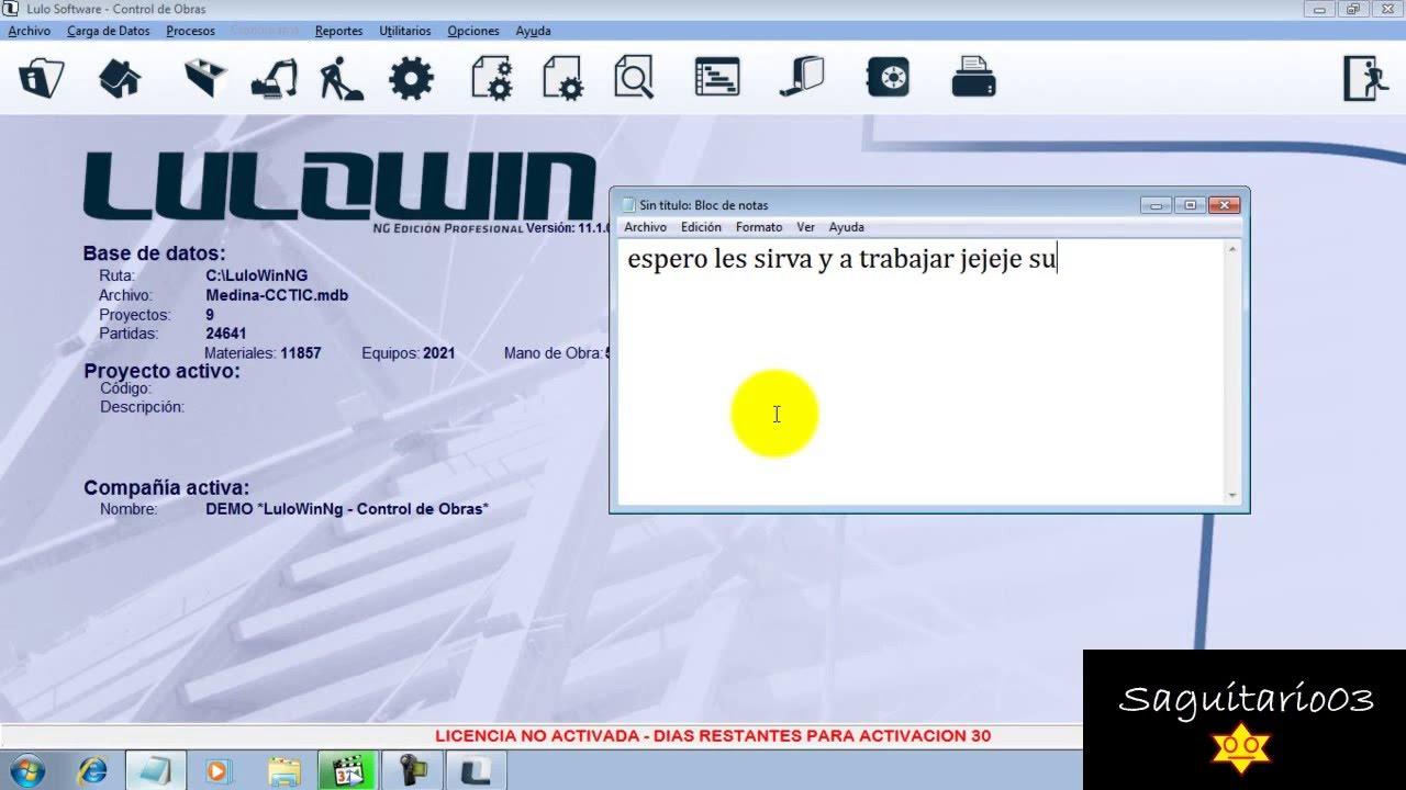 base de datos lulowin 2013