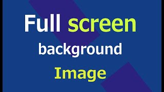 Full screen background image in html and css | web zone